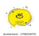 360 degree icon. quote speech...   Shutterstock .eps vector #1708236970