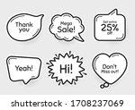 comic chat bubbles. mega sale ...   Shutterstock .eps vector #1708237069