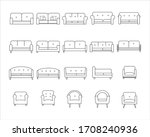 sofa outline icons set ... | Shutterstock .eps vector #1708240936