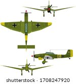 Vector image of the German diving bomber Stukas. Silhouettes can be made very easily. There are no errors or omissions; the file is ready for work.