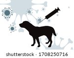 vector silhouette of dog with... | Shutterstock .eps vector #1708250716