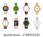 wrist watch. mens and womens...   Shutterstock .eps vector #1708251310