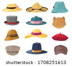 Man And Woman Hats. Fashion...
