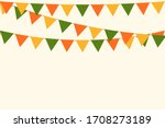 party carnival bunting garland... | Shutterstock .eps vector #1708273189