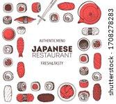 sushi menu  sushi bar hand... | Shutterstock .eps vector #1708278283
