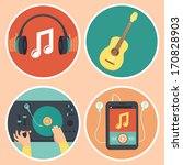 vector music icons and signs in ... | Shutterstock .eps vector #170828903