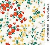 vintage folk floral background. ...   Shutterstock .eps vector #1708292626
