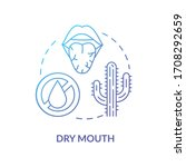 dry mouth blue concept icon....   Shutterstock .eps vector #1708292659