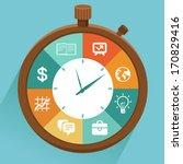 vector flat concept   time... | Shutterstock .eps vector #170829416