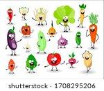 set of vegetables. vegetables... | Shutterstock .eps vector #1708295206
