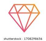 the vector gradient orange to...   Shutterstock .eps vector #1708298656