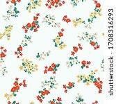 vintage folk floral background. ... | Shutterstock .eps vector #1708316293