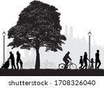 family peopel silhouettes in... | Shutterstock .eps vector #1708326040