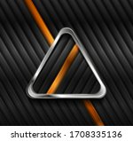 metallic triangle and glossy...   Shutterstock .eps vector #1708335136