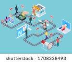 customer journey. buying... | Shutterstock . vector #1708338493