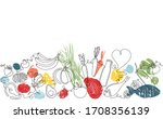 background with organic food.... | Shutterstock .eps vector #1708356139