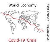 world economy crisis covid 19...   Shutterstock .eps vector #1708361653