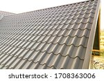Close Up Of New House Roof...