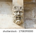 Face Carved Into The Pont Sain...
