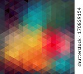 triangles pattern of geometric... | Shutterstock . vector #170839154