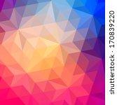 triangles pattern of geometric... | Shutterstock . vector #170839220