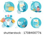 banking and financial... | Shutterstock .eps vector #1708400776