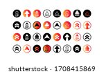 swipe up icon  arrow up. button ... | Shutterstock .eps vector #1708415869