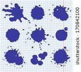 set of ink splatters in school...   Shutterstock .eps vector #170842100