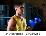 bodybuilder male shoulders... | Shutterstock . vector #17084263