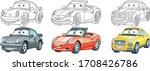 clipart cars. cartoon set for... | Shutterstock .eps vector #1708426786