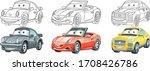 clipart cars. cartoon set for... | Shutterstock .eps vector #1708426786