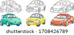 cartoon clipart. cars set for... | Shutterstock .eps vector #1708426789