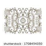 vector floral composition ... | Shutterstock .eps vector #1708454350