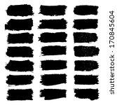 vector set of grunge brush... | Shutterstock .eps vector #170845604