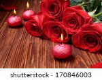 romantic composition with red... | Shutterstock . vector #170846003