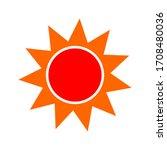 sun icon isolated on white...