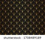 classic leaves art deco...   Shutterstock .eps vector #1708489189