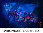 image of stock price crash... | Shutterstock . vector #1708493416