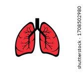 lungs icon. design vector...   Shutterstock .eps vector #1708502980