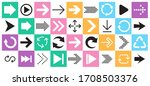 arrow sign icon set. collection ... | Shutterstock .eps vector #1708503376