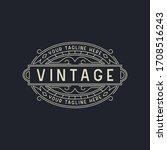 elegant art deco vintage logo... | Shutterstock .eps vector #1708516243