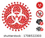 collage virus hazard icon...   Shutterstock .eps vector #1708522303