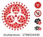 collage virus hazard composed...   Shutterstock .eps vector #1708524430
