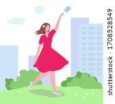 ending of quarantine and... | Shutterstock .eps vector #1708528549