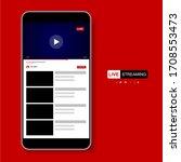 video player template design.... | Shutterstock .eps vector #1708553473