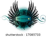 heraldic shield or badge  blank ... | Shutterstock .eps vector #17085733