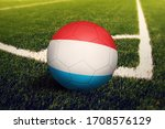 Luxembourg Flag On Ball At...