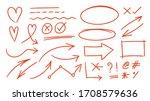 red arrows design vector. ... | Shutterstock .eps vector #1708579636
