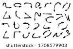 arrows design vector.  doodle... | Shutterstock .eps vector #1708579903