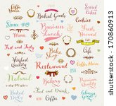 set of vintage bakery badges ... | Shutterstock .eps vector #170860913